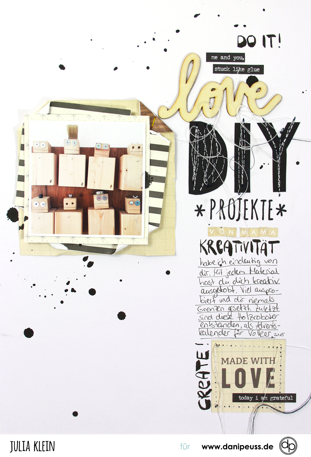 Made with love - Bastelprojekte für danipeuss.de | Juni 2017 | Scrapbooking, Karten basteln und Videos | piecesforhappiness.de