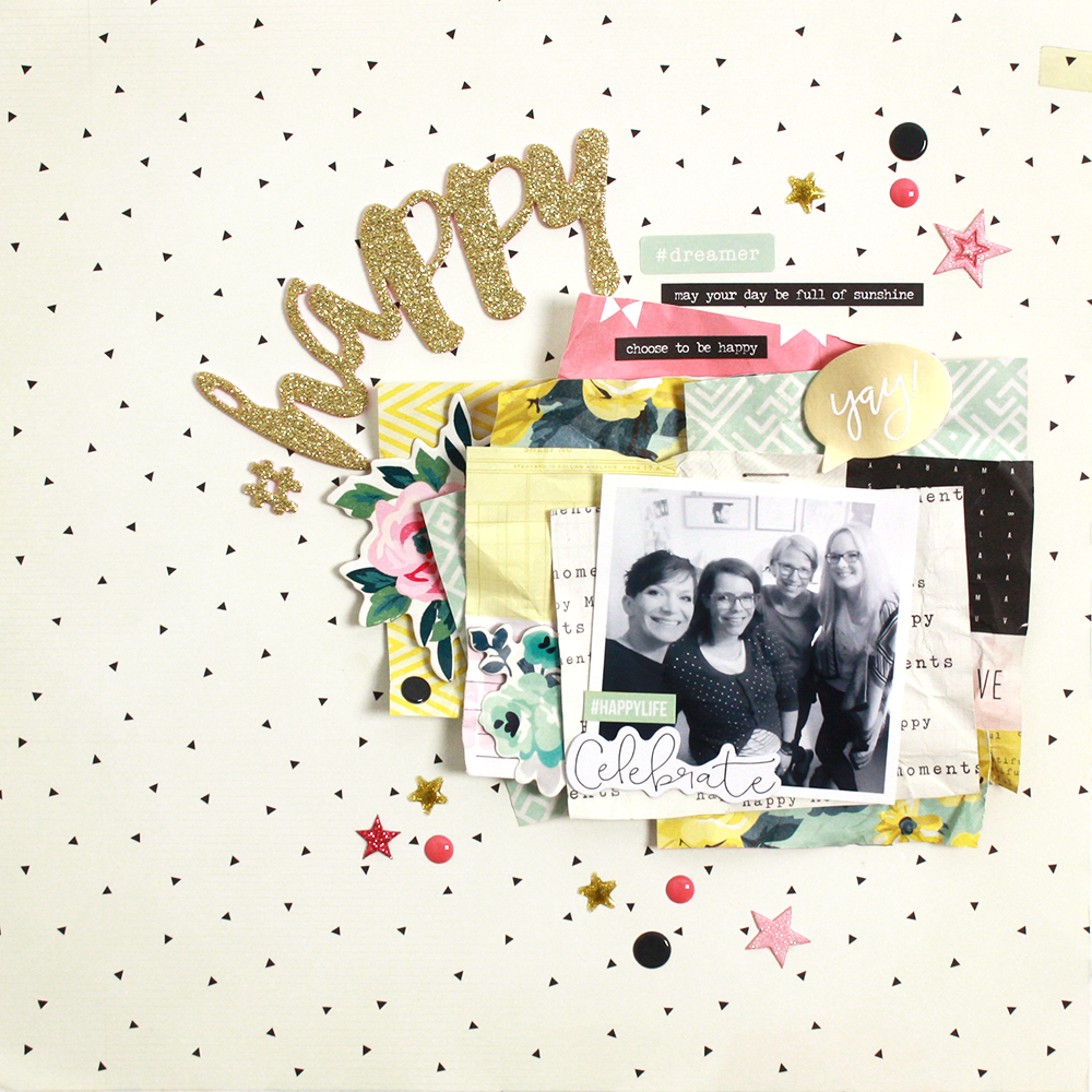 #Happy – Scrapbooking Layout