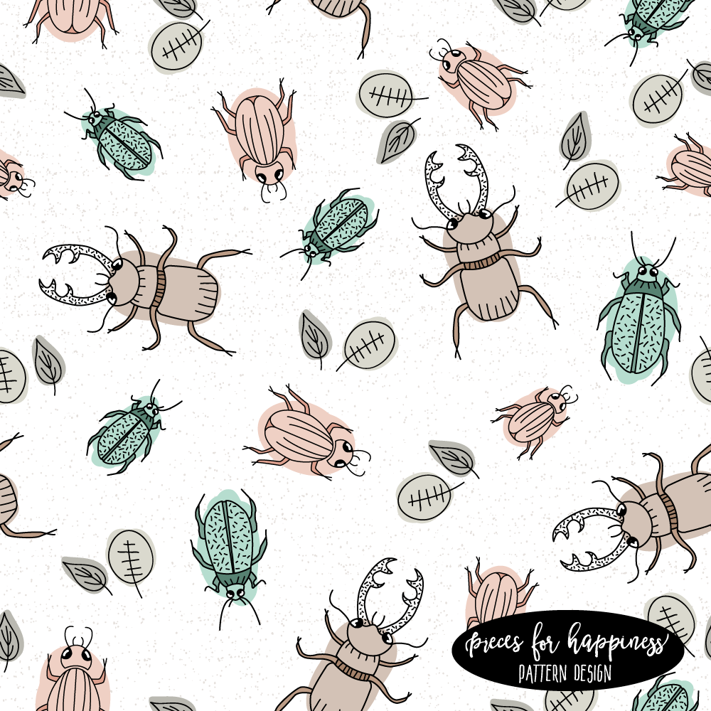 Pattern Design - Käfer | piecesforhappiness.de