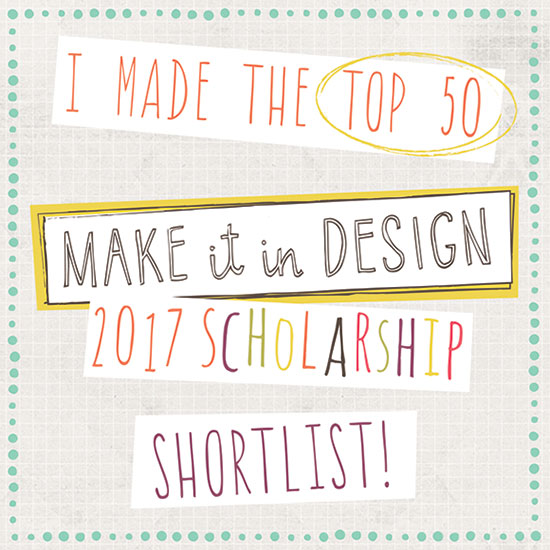 Pattern Design - Ich bin bei den TOP 50 | Make it in Design 2017 scholarship shortlist | piecesforhappiness.de