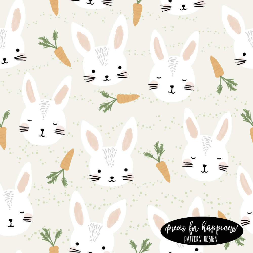 Kids Pattern Design Häschen zu Ostern | piecesforhappiness.de