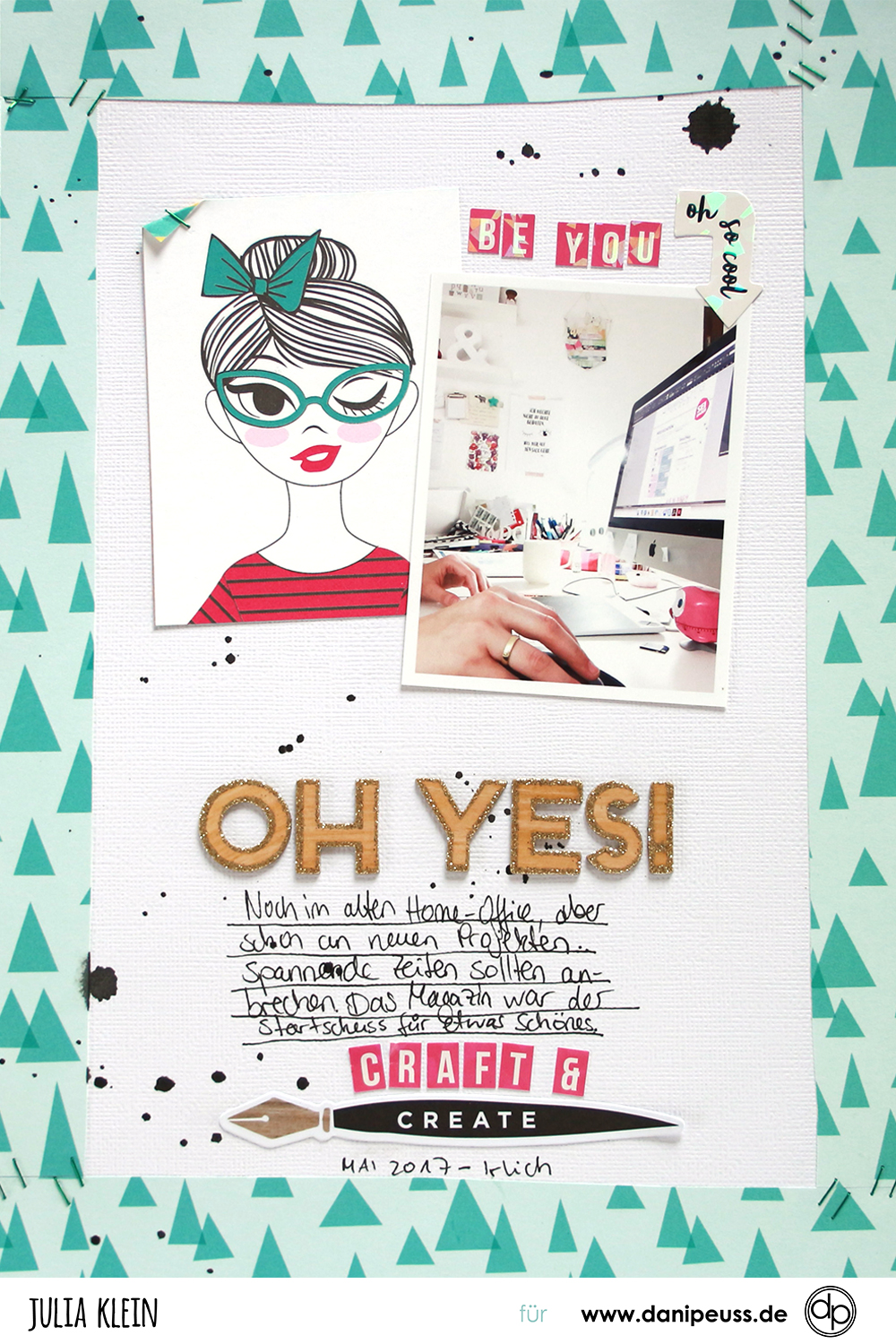 Scrapbooking Layout mit November Hauptkit von danipeuss.de. | piecesforhappiness.de